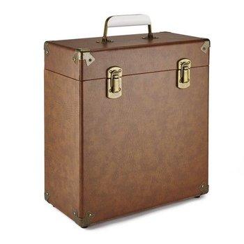 """GPO GPO 12"""" opbergkoffer voor vinyl - bruin"""