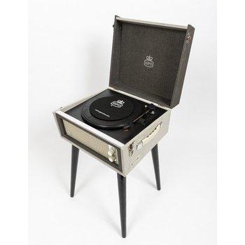 GPO GPO Kofferplatenspeler op pootjes - grijs