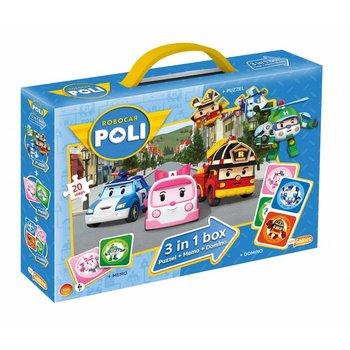 Just Entertainment Robocar Poli 3-in-1 (Memo, Domino, Puzzel)