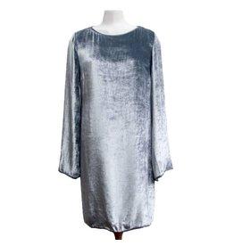 Missoni blauw/grijze jurk velours