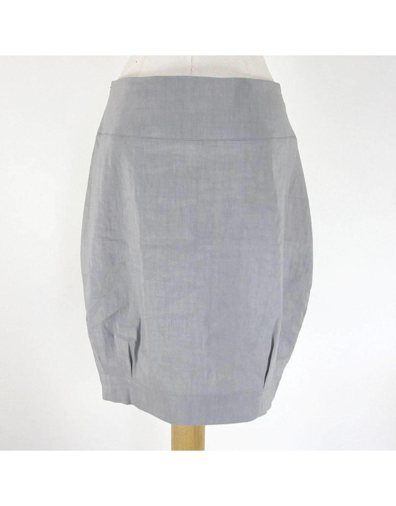 Sarah Pacini lichtgrijze korte rok