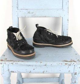 Grotesque zwarte schoen dubbele veter