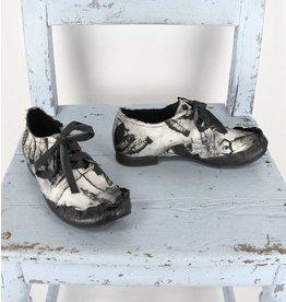 Papucei aparte schoen canvas/leer