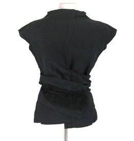 Artwear zwarte top met wikkel
