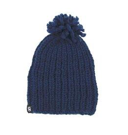 Inti Knitwear muts Haran Pompon blauw