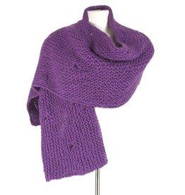 Inti Knitwear paarse brede sjaal