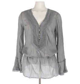 Braez grijze blouse bloezend