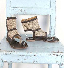 Cycle boho sandaaltjes bruin/beige