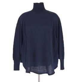 Anna-Q donkerblauwe trui Elinore