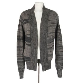 Anna Cales vest taupe/antraciet