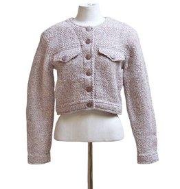 Inti Knitwear kort jasje creme/roze Majorie