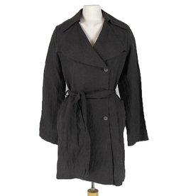 Mayer Berlin zwarte halflange jas linnen