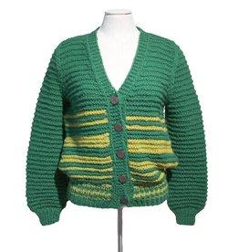 Inti Knitwear vest 2 kleuren groen