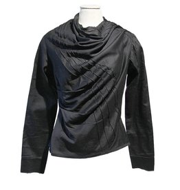 Mayer Berlin zwarte blouse siernaden