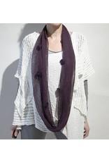 Zuza Bart paarse colsjaal linnen