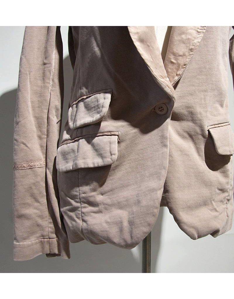 Braez oudroze jasje kraag zijde