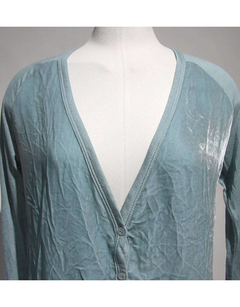 Braez vestje met velours turquoise