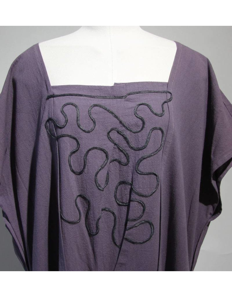 Zuza Bart paarse jurk katoen
