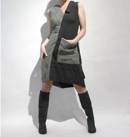 Mayer Berlin jurk zwart met groen