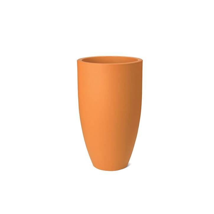 Ikala Hoge oranje bloempot Elise 70