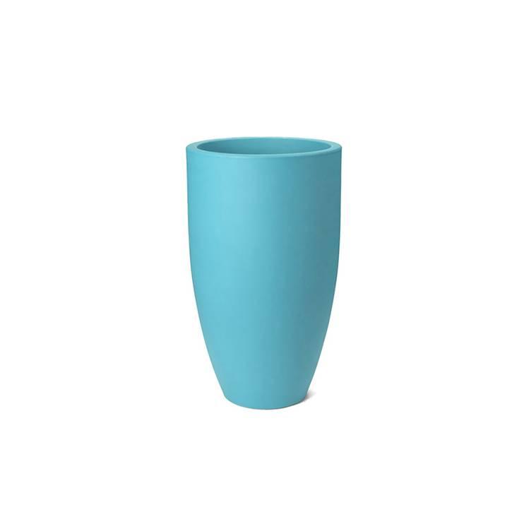 Ikala Hoge turquoise bloempot Elise 70