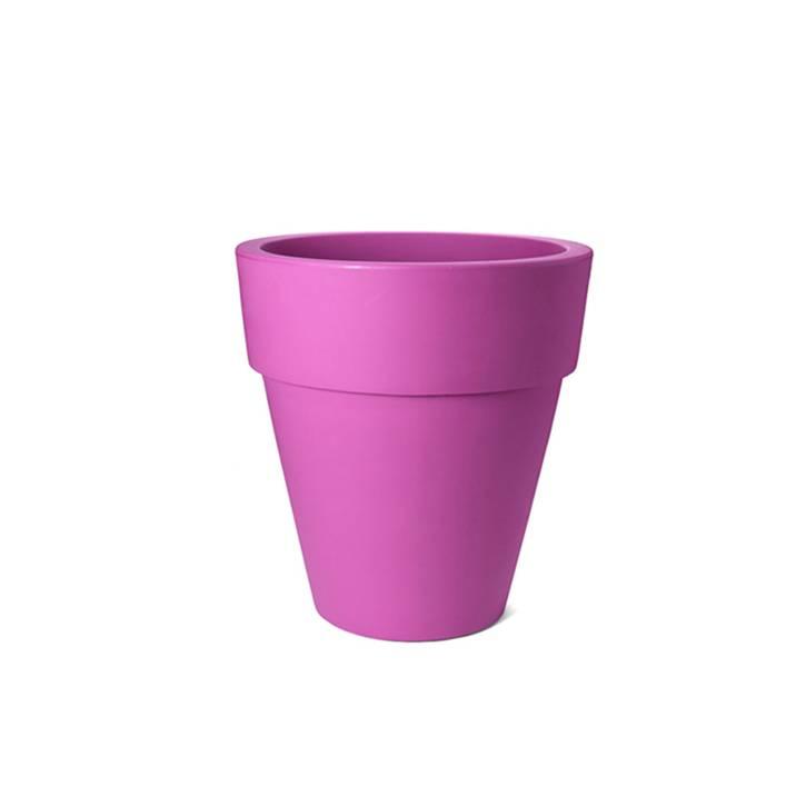Roze bloempot
