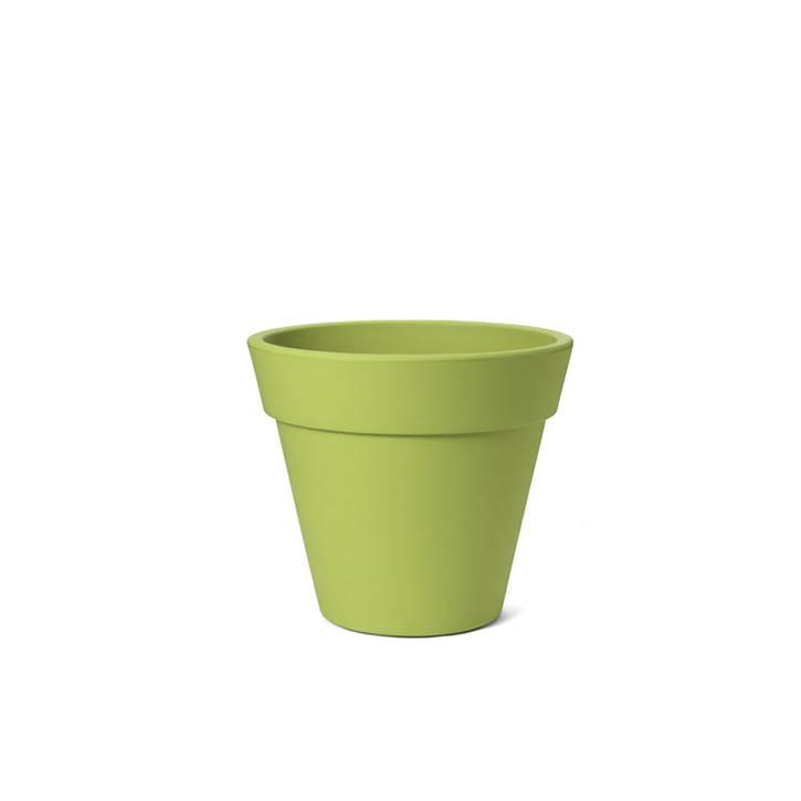 Ikala Groene kunststof bloempot Julia H50