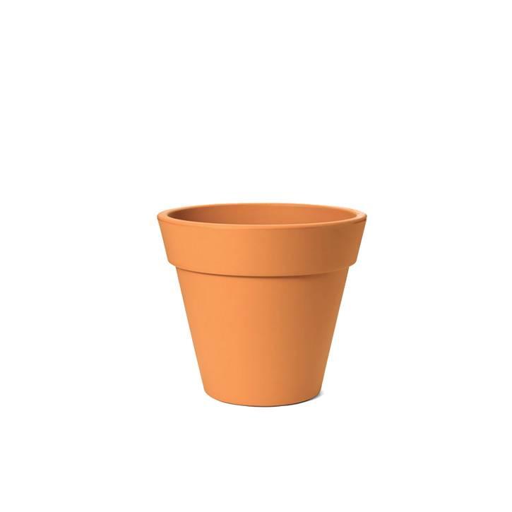 Ikala Oranje kunststof bloempot Julia H50