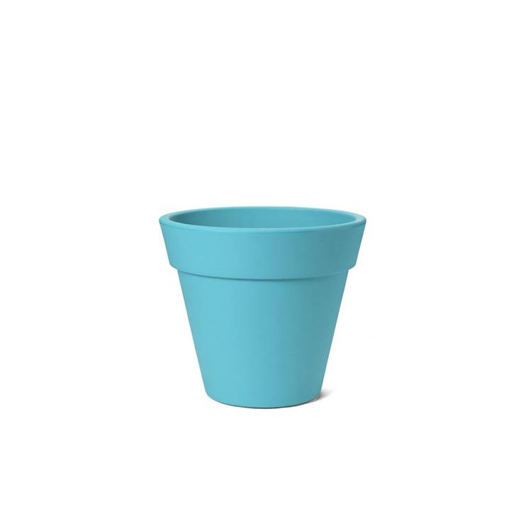 Ikala Turquoise kunststof bloempot Julia H50