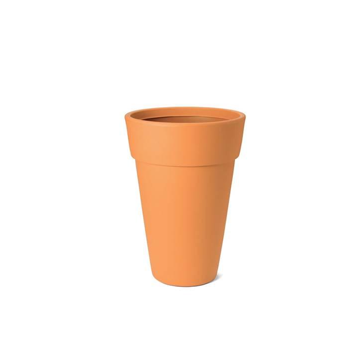 Ikala Hoge oranje design bloempot Lucy H65