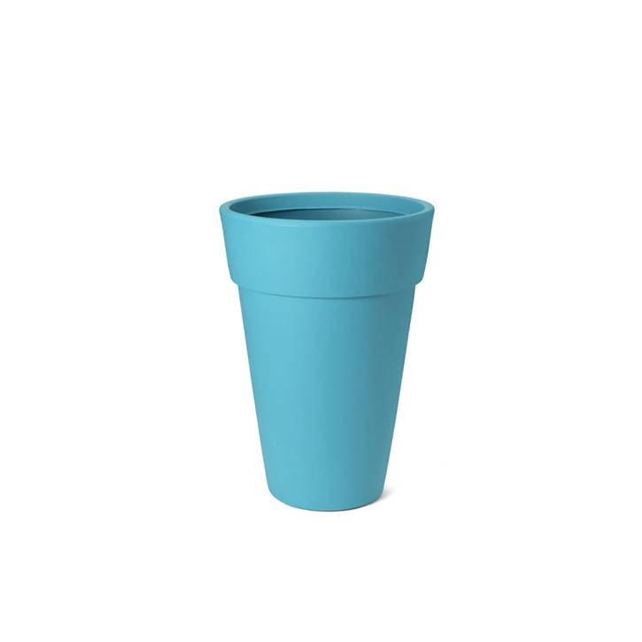 Ikala Hoge turquoise design bloempot Lucy H65