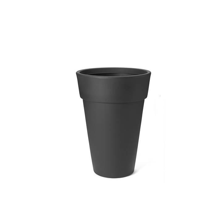 Ikala Hoge antraciete design bloempot Lucy H50