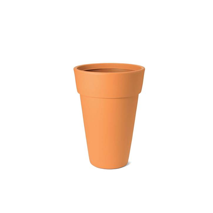 Ikala Hoge oranje design bloempot Lucy H50
