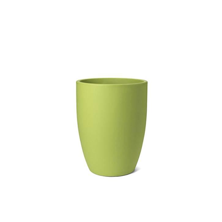 Ikala Hoge groene kunststof bloembak Isa H60
