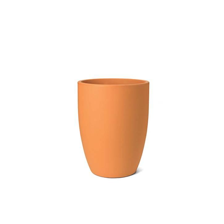 Ikala Hoge oranje kunststof bloembak Isa H60