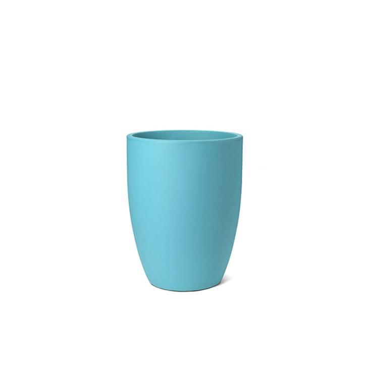 Ikala Hoge turquoise kunststof bloembak Isa H60