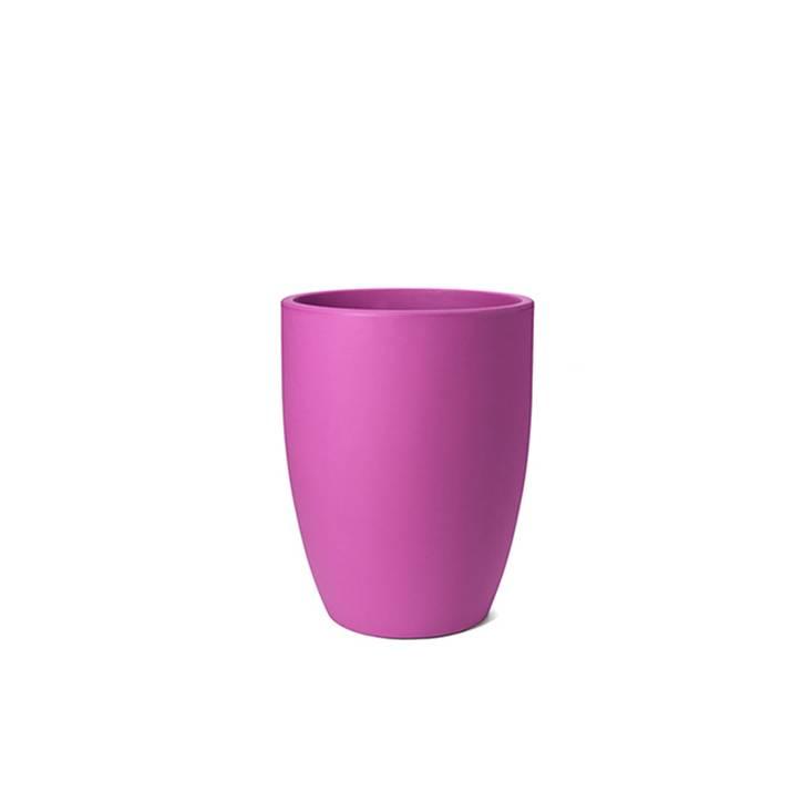 Ikala Hoge roze kunststof bloembak Isa H50