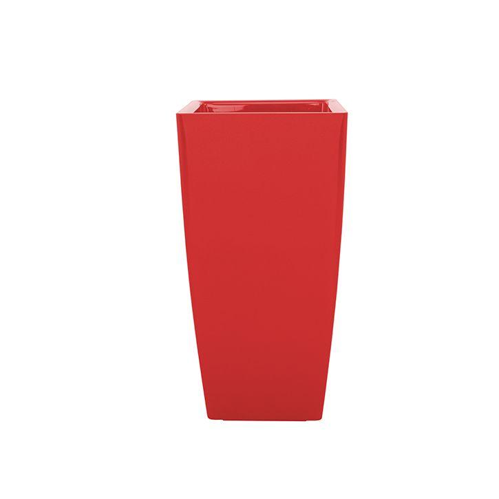 Ikala Rode hoogglans bloempot | voor binnen en buiten | H60