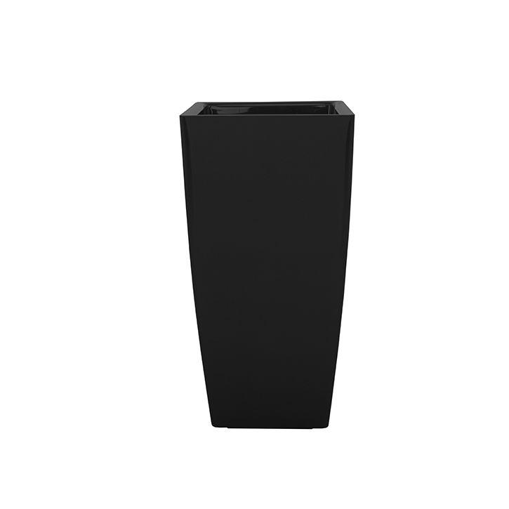 Ikala Zwarte hoogglans bloempot | voor binnen en buiten | H78