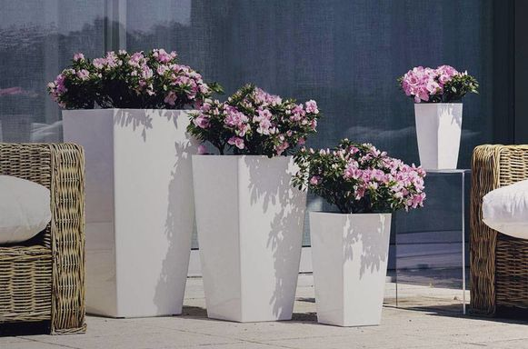 Hoogglans bloempotten 'Bright'