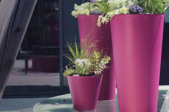 Kunststof plantenbakken 'Slim'