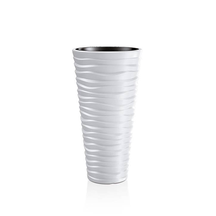 Ikala Hoge witte design bloempot 'Wave' H75
