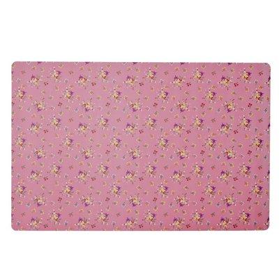 Rice Plastic placemat klein met roze flower print