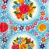 Kitsch Kitchen Plakfolie Rosario Blue 45x200 cm