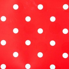 Kitsch Kitchen Plakfolie Red/white dots