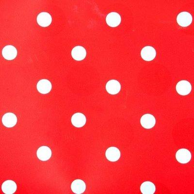 Kitsch Kitchen Plakfolie red/white dots 45x200 cm