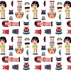 Kitsch Kitchen Plakfolie Dressed Up Girl 45x200 cm