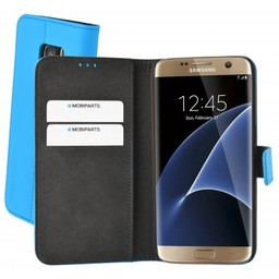 Mobiparts Mobiparts Premium Wallet Case Samsung Galaxy S7 Light Blue