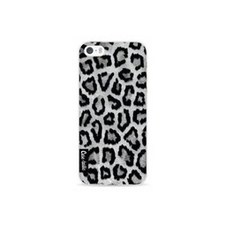 Casetastic Casetastic Softcover Apple iPhone 5/5S/SE Grey Leopard