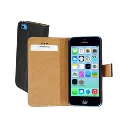 Mobiparts iphone 5c hoesjeMobiparts Premium Wallet Case Apple iPhone 5C Black